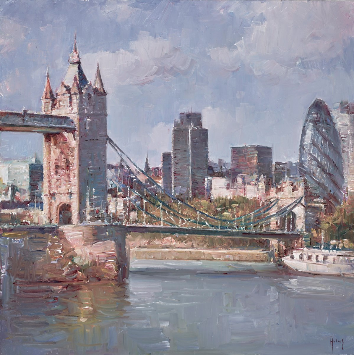 London City Views II by helios -  sized 24x24 inches. Available from Whitewall Galleries